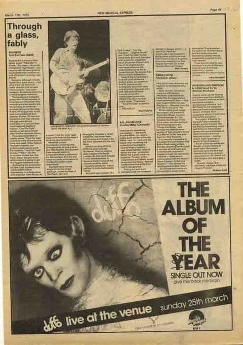 DUFFO Album of the year 21x30cm vintage music press advert cutting/clipping 1979