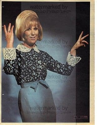 DUSTY SPRINGFIELD size approx 10X13 inch pinup poster size press cutting/clipping 1966