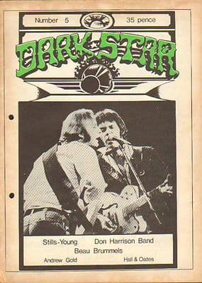 Dark Star Magazine No 5 October 1976 Don Harrison Neil Young Steven Stills Beau Brummels