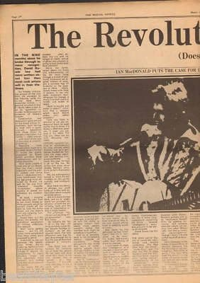 David Bowie 2.5 Page Centrespread original Vintage Music Press Article cutting/clipping 1973
