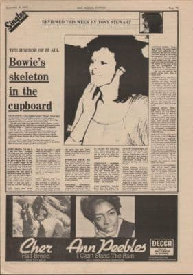 David Bowie Skeleton in the cupboard Laughing Gnome review music Press cutting/clipping 19