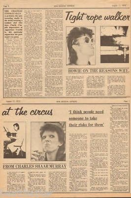 David Bowie Tight rope walker original Vintage Music Press Article cutting/clipping 1973