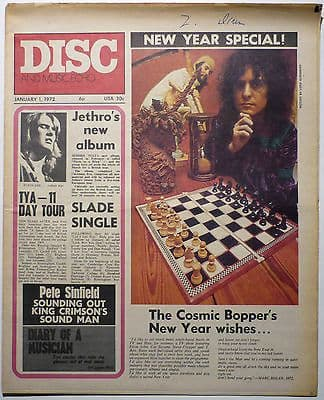 Disc & Music Echo Magazine 1 Jan 1972 T Rex King Crimson Sinfield Amazing Blondel