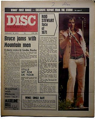 Disc & Music Echo Magazine 12 Feb 1972 T Rex Marc Bolan The Who Led Zeppelin John Lennon Rod Stewart