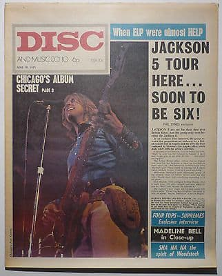 Disc & Music Echo Magazine 19 June 1971 ELP Hendrix Long John Baldrey Jackson 5 Madeline Bell