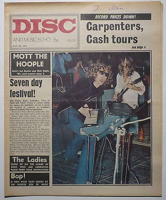 Disc & Music Echo Magazine 24 July 1971 The Who Bert Jansch Jack Bruce Mott the Hoople