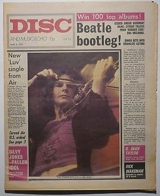 Disc & Music Echo Magazine 5 June 1971 Funkadelic Grand Funk Curved Air Davy Jones Edgar Broughton