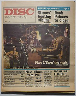 Disc & Music Echo Magazine 8 May 1971 Faces King Crimson T Rex Byrds Elton John