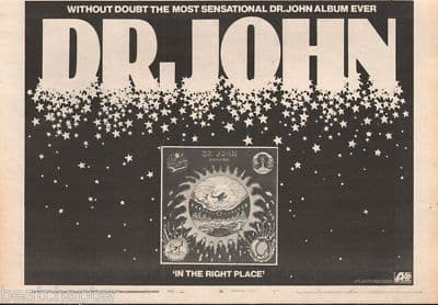 Dr John In the right place A4 Size LP vintage music press advert cutting/clipping 1973