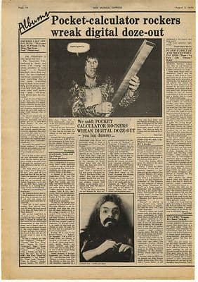 ELP & Wizzard LP Reviews Vintage Music Press Article/cutting/clipping 1974