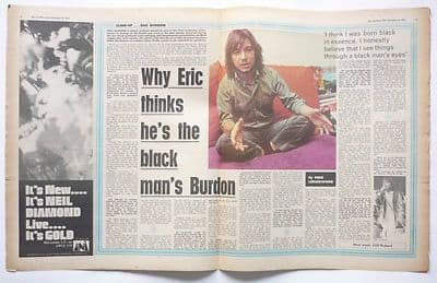 Eric Burdon 2p Interview Vintage Music Press Article/cutting/clipping 1970