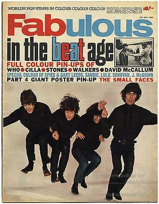 Fabulous 208 Magazine 14 May 1966 Small Faces Ronnie Lane Rolling Stones Who Walker Bros Beatles