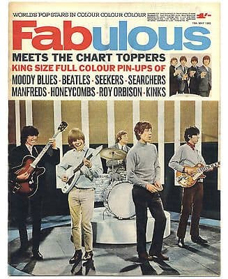 Fabulous 208 Magazine 15 May 1965 Rolling Stones Beatles Kinks Manfred Mann Moody Blues Seekers