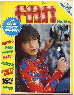 Fan Magazine Issue No 16 Sweet Marc Bolan David Bowie Cassidy Donny Osmond