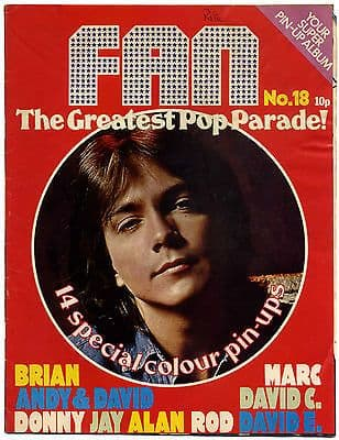 Fan Magazine Issue No 18 Sweet Marc Bolan Rod Stewart Osmonds David Essex Cassidy