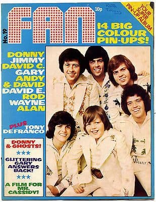 Fan Magazine Issue No 19 Rod Stewart David Essex Osmonds Gary Glitter Band