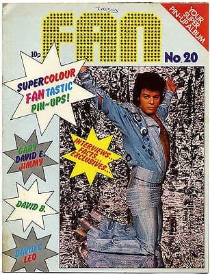 Fan Magazine Issue No 20 David Bowie Slade Cassidy Donny Osmonds Gary Glitter