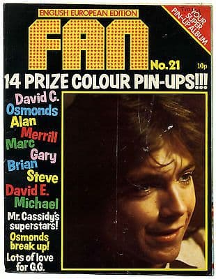 Fan Magazine Issue No 21 Marc Bolan Michael Jackson Osmonds David Cassidy
