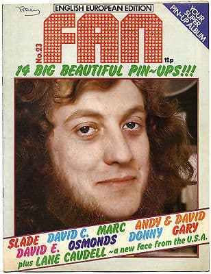 Fan Magazine Issue No 23 David Cassidy Marc Bolan Lane Caudell Gary Glitter