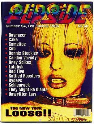 Flipside Magazine No 94 1995 Cake Boy racer Red Five Cameltoe Cub Grey Spikes