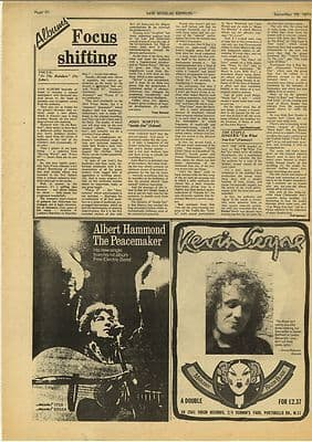 FOCUS JOHN MARTYN LP Reviews Vintage Music Press Article/cutting/clipping 1973
