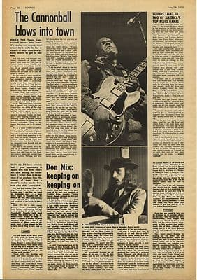 FREDDIE KING DON NIX Vintage Music Press Article/cutting/clipping 1973