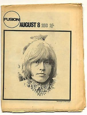 Fusion Magazine No 14 Brian Jones Newport Jazz Ravi Shankar 8 August 1969