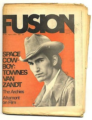 Fusion Magazine No 30 Townes Van Zandt Stones Altamont Film Marshall Chess 3 April 1970