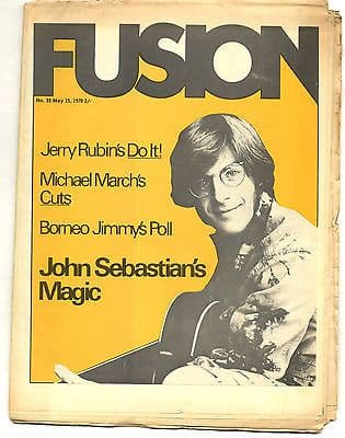 Fusion Magazine No 33 John Sebastian Johnny Otis Jac Holzman 15 May 1970
