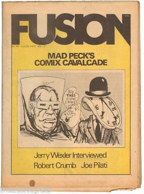 Fusion Magazine No 36 Robert Crumb Jerry Wexler Joe Pilati 1970