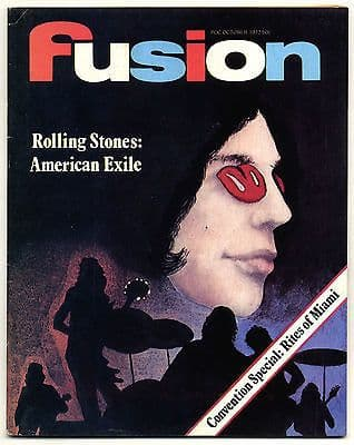 Fusion Magazine No 79 Rolling Stones American Exile Eric Clapton October 1972