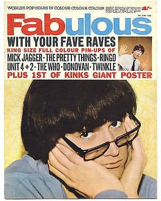 Fabulous 208 Magazine 5 June 1965 Who Kinks Pretty Things Mick Jagger Rolling Stones Beatles