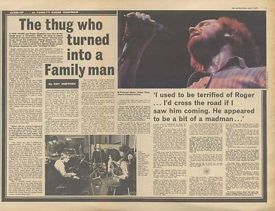 Family ROGER CHAPMAN Interview centre pages Music Press article/cutting/clipping 1971