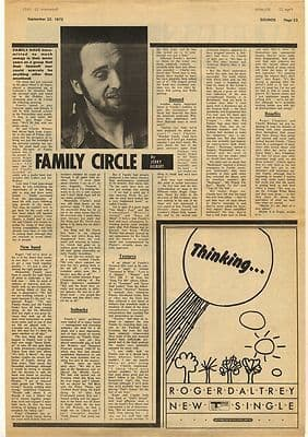 Family Roger Chapman Interview Vintage Music Press Article/cutting/clipping 1973