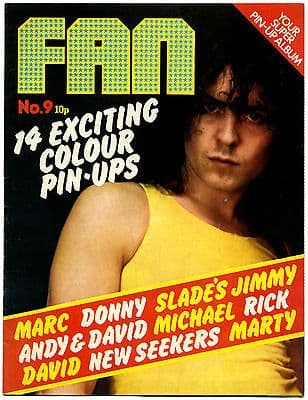 Fan Magazine No 9 April 1973 Marc Bolan Donny Osmond Michael Jackson David Cassidy Slade/Jim Lea