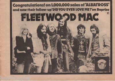 Fleetwood Mac Did you ever love A4 Size LP 1973 vintage music press advert cutting/clipping