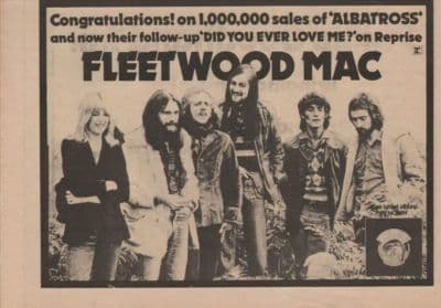 Fleetwood Mac Penguin A4 Size LP vintage music press advert cutting/clipping 1973