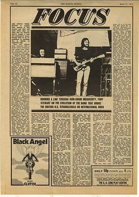 Focus Full page Vintage Music Press Article/cutting/clipping 1973