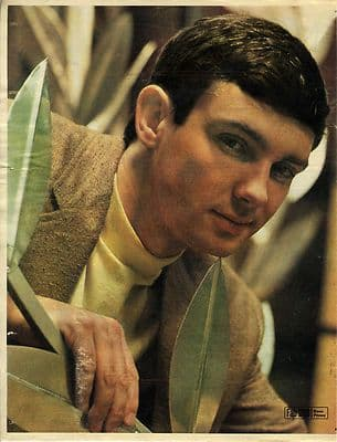 GENE PITNEY approx 10X13 inch pinup poster size press cutting/clipping 1966 Original pic
