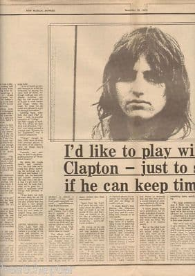 GREG LAKE 2 Page Interview original Vintage Music Press Article cutting/clipping 1973