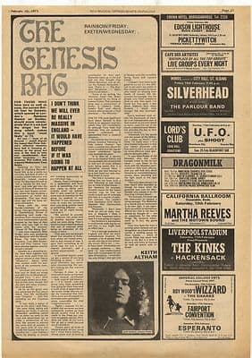Genesis Tony Banks Interview Vintage Music Press Article/cutting/clipping 1973