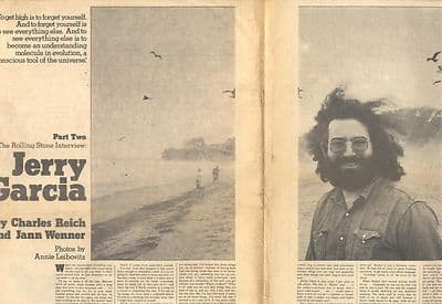 Grateful Dead JERRY GARCIA 9 page Interview Music Press article/cutting/clipping 1972