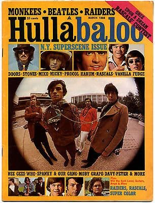 Hullabaloo Magazine March 1968 Doors Bee Gees The Who Rolling Stones Procol Harum Monkees Jefferson