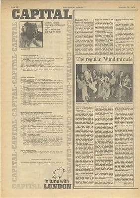 Hawkwind in New York by Mick Farren Vintage Music Press article/cutting/clipping 1974