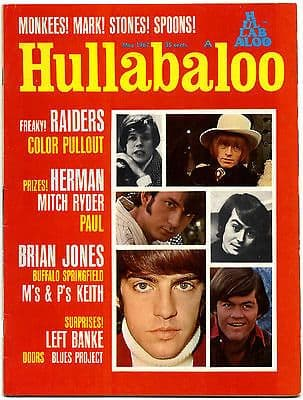 Hullabaloo Magazine May 1967 Rolling Stones Brian Jones Buffalo Springfield Blues Project