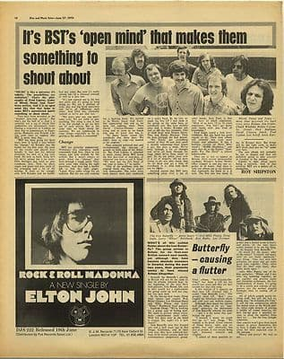 IRON BUTTERFLY BLODD SWEAT TEARS Vintage Music Press Article/cutting/clipping 1970