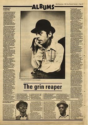 Ian Dury LaughterLKJ in Dub LP review Music Press article/cutting/clipping 1980