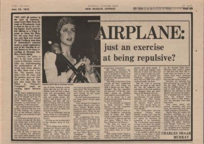 Jefferson Airplane Just an excercise page original Vintage Music Press article 1973
