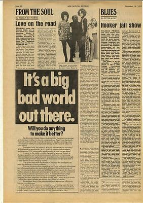 JOHN LEE HOOKER Jail Show Vintage Music Press Article/cutting/clipping 1972