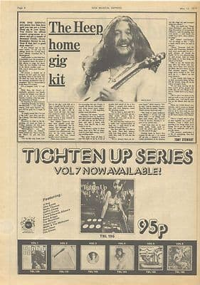 January REGGAE Tighten Up Advert Vintage Music Press article/cutting/clipping 1973
